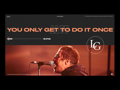 LG UNPLUGGED — layout exp indesign photography graphicdesign liamgallagher layoutdesign typography