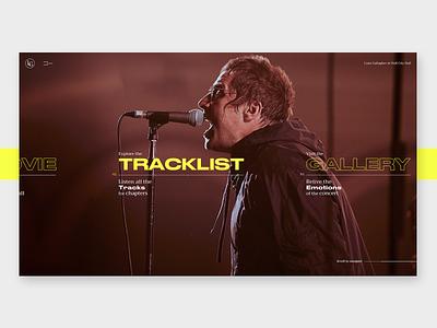 Liam Gallagher - MTV UNPLUGGED video music liamgallagher uiux interface webdesign slider layout interaction design animation