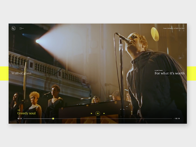 Liam Gallagher - MTV UNPLUGGED video music liamgallagher uiux interface webdesign slider layout interaction design animation