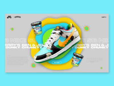 NIKE SB X Ben and Jerry's interface graphicdesign webdesign design after effect ux ui colors shoes nike