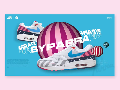 Nike SB Dunk X Parra aftereffects animation 3d webdesign uiux interface graphicdesign colors nike