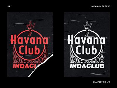 Havana IN DA CLUB vector typography logo graphicdesign design branding