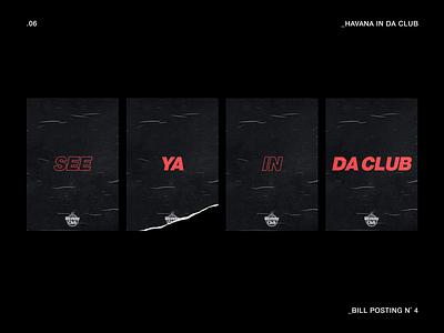 Havana IN DA CLUB typography vector logo poster branding graphicdesign animation design