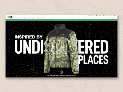 TNF / Tropical Camo interface interaction aftereffects animation webdesign camouflage thenorthface