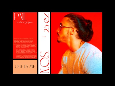 PNL - la discographie red lettering digitaldesign artdirection graphicdesign music
