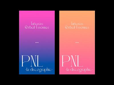PNL - la discographie lettering digitaldesign artdirection graphicdesign music pnl