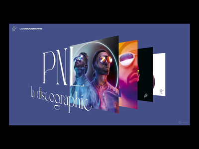 PNL - la discographie pnl music graphicdesign artdirection digitaldesign lettering ui interface webdesign
