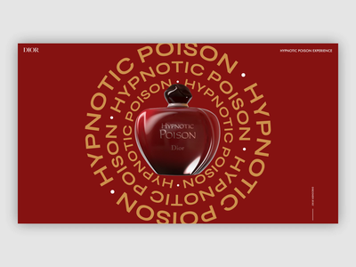 DIOR - Hypnotic Poison design aftereffects interaction ux ui interface webdesign dior