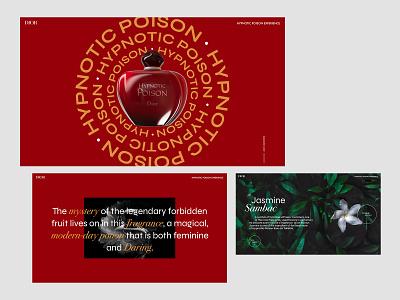 DIOR - Hypnotic Poison branding ux ui interface design webdesign dior