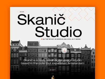 Skanič Studio orange branding webdesign graphic design