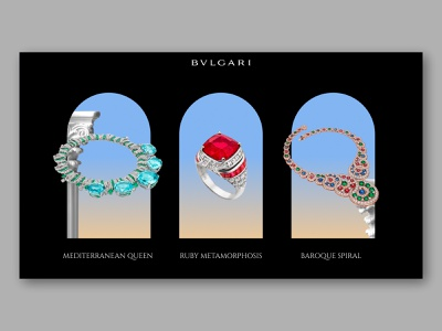 BULGARI - Magnifica collection animation aftereffects ui ux jewels bulgari gradient graphicdesign interface interaction motion product diamond italy