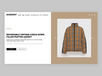 Burberry / Product Page animation