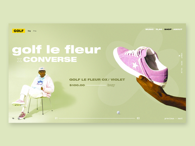 GOLF WANG by Tyler, The Creator - redesign interaction logic tylerthecreator graphicdesign design ecommerce ux ui product helvetica bold userinterface golfwang navigation bar webdesign green web interaction
