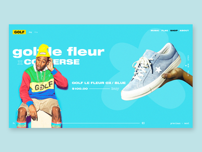 GOLF WANG by Tyler, The Creator - redesign illustration color interaction interface ecommerce brand art type website flat web app icon typography branding vector ux ui logo design