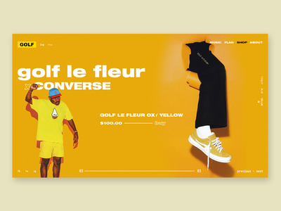GOLF WANG by Tyler, The Creator - redesign design logo ui ux vector branding typography icon webs flat website app type art brand ecommerce interface interaction color illustration