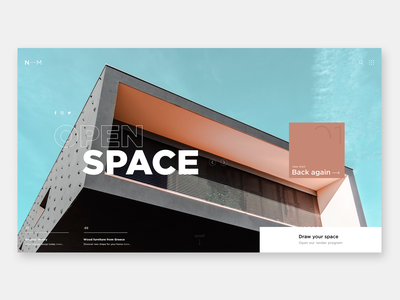 JFF - Open Space homepage architecture graphicdesign website webdesign web ux ui interface interaction header exploration design concept
