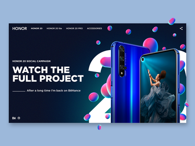 HONOR 20 / social campaign color web product design website ux ui graphicdesign interface webdesign