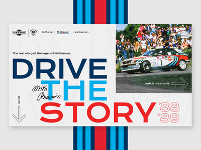 MARTINI RACING / M. Biasion story color interaction ux ui interface design graphicdesign webdesign martiniracing