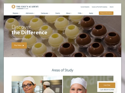 The Chef's Academy agency web design website