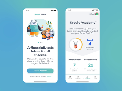 Kiddie Kredit Mobile App uxdesign ux  ui uxui ui design uidesign ui  ux uiux kids app credit finance app mobile app design mobile design mobile ui mobile mobile app design ux ui interaction design app design