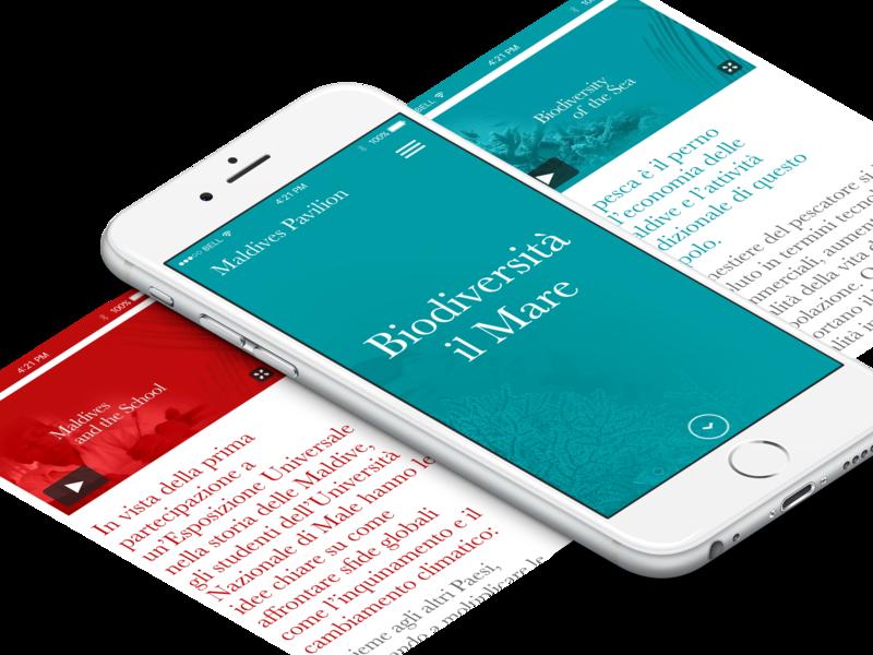 Mobile Design - Expo Maldives 2015 web  design visual design mobile design ui design