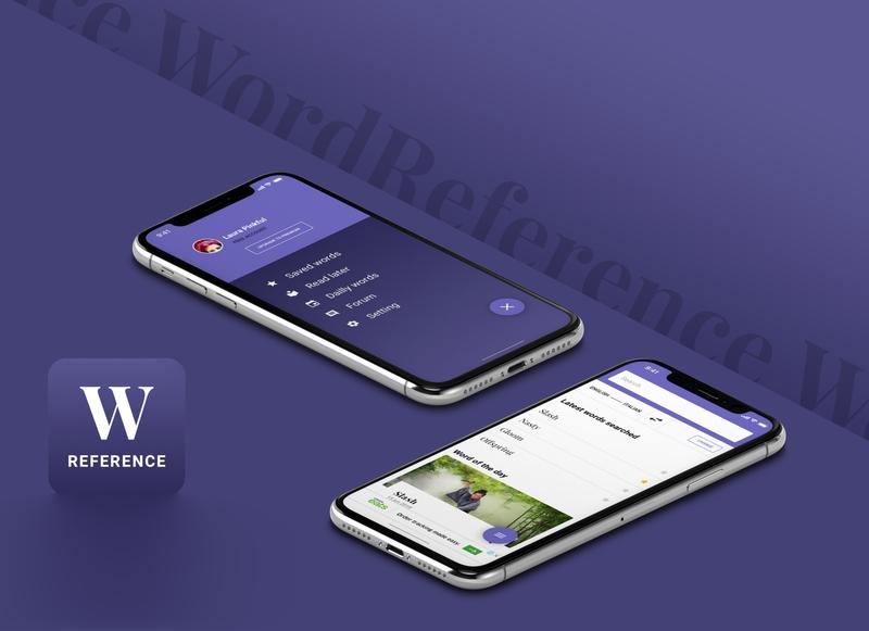 WordReference Redesign purple mobile design mobile app mobile app design app redesign concept product design ui