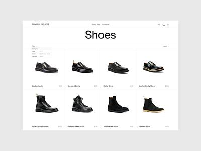 Common Project — catalog of minimalistic online store ecommerce e commerce online store minimalist design minimalistic minimalist minimalism interface minimal ui website web web design