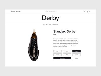 Common Project — product page design interface ux ui web website minimal minimalist design minimalism minimalist