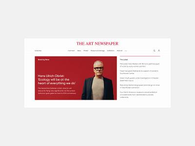The Art Newspaper design concept magazine minimalism minimal design interface web website ux ui