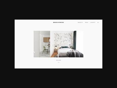 Minimalist web design for Interior designer from Russia minimalist website designer portfolio architecture website interior designer portfolio interior designer website minimal design minimal minimalism ux ui website