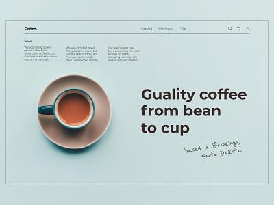 Coffee shop minimal UI website web ux ui typography type swiss minimal flat design coffeeshop coffee