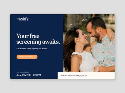 Tawkify Landing Page branding ui dating website website redesign webdesign website