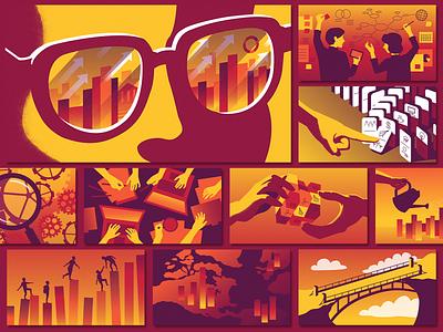 RoseRyan Illustrations vector brand illustration illustration brand color branding design company branding