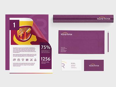 RoseRyan Branding typography font brand design color branding design identity logo company branding