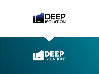 Deep Isolation Branding Evolution brand marketing agency logo design rebrand logo evolution design branding design identity color logo company branding