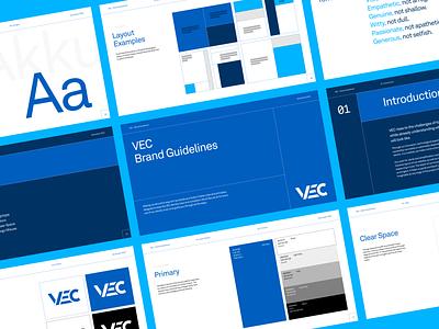 Brand Guidelines – VEC identity design branding design brand company branding