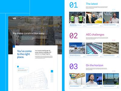 Website – VEC construction identity web design company website design branding design brand branding