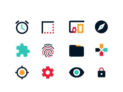 Icons for Sensepoint illustration marketing agency vector app web ui ux icon branding design typography illustrator cc color advertisement company logo design brand identity colors icons