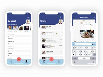 Messenger Mobile App Screen Design