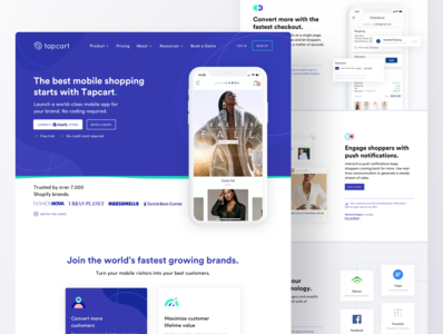 Tapcart Website Rebrand