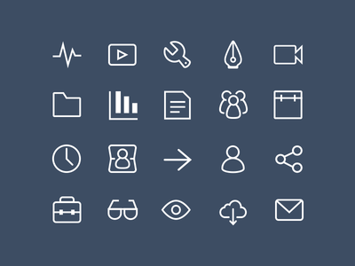 A sampling of our video production icons