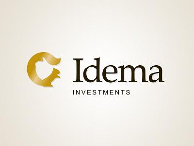 Idema Investments logo logo design logotype branding brand design investment logo financial logo financial design
