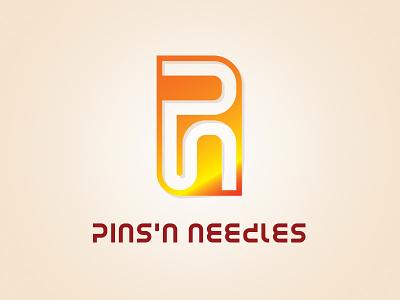 Pins'n Needles logo design branding brand design typography logotype