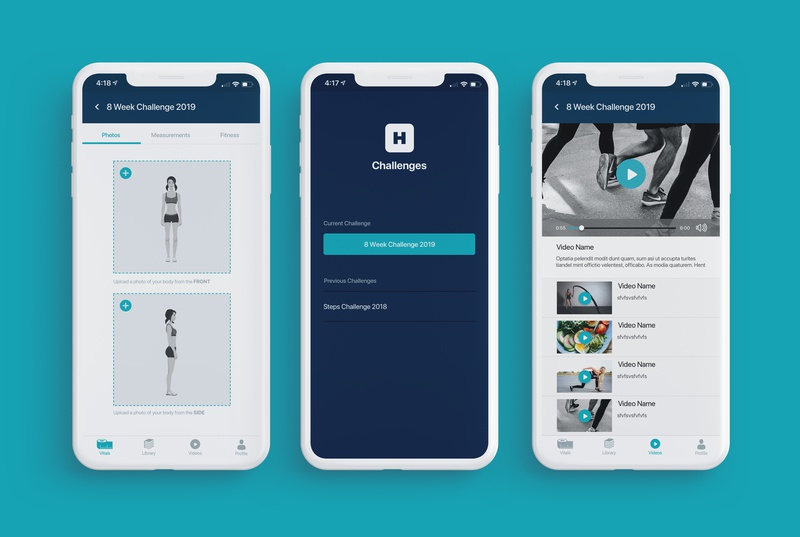 Healthwise Challenges Mobile App mobile app design mobileapp app design