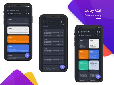 CopyCat Notes App