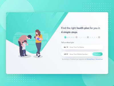 Health Insurance Pre-Quote Screen