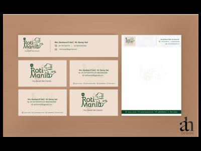 ROTI MANIA VISITING CARD & LETTER HEAD branding.mockup carousel ads facebook  ads branding ads illustration design ads branding socialmedia campaign