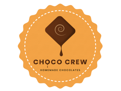 Choco crew logo chocolate company food branding ads branding.mockup advertising socialmedia facebook campaign illustrative ads branding design vector illustration logo