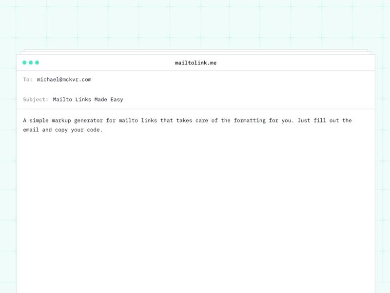 mailtolink.me mailto side project email app ui design