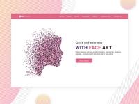 Face Art Landing Page